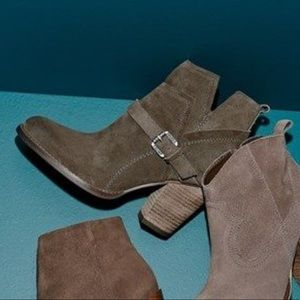 Ivanka Trump 'Frankly' belted suede bootie